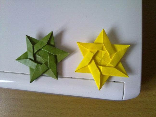 origami maniacs origami davids star by kunihiko kasahara