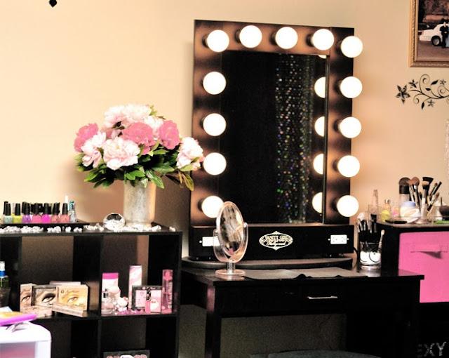 inspiração decoração penteadeira maquiagem blog Mamãe de Salto ==> imagem retirada da internet