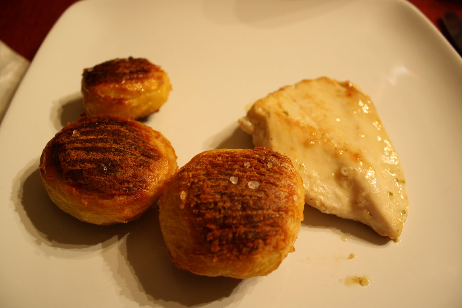 roasted turkey with fontina stuffed potatoes oven roasted potatoes ...