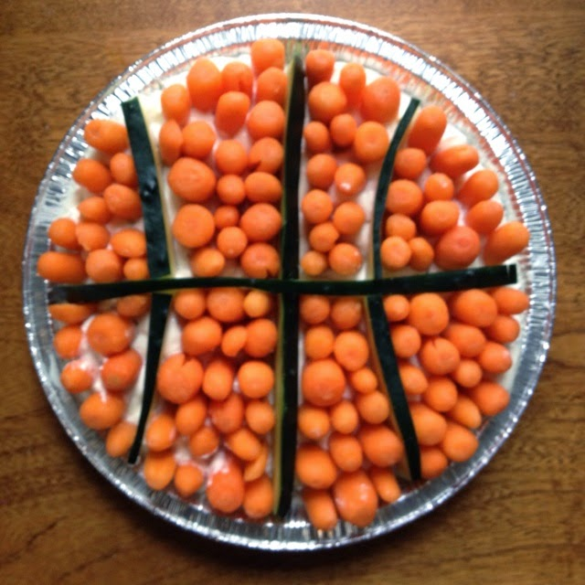 Basketball Veggie Tray