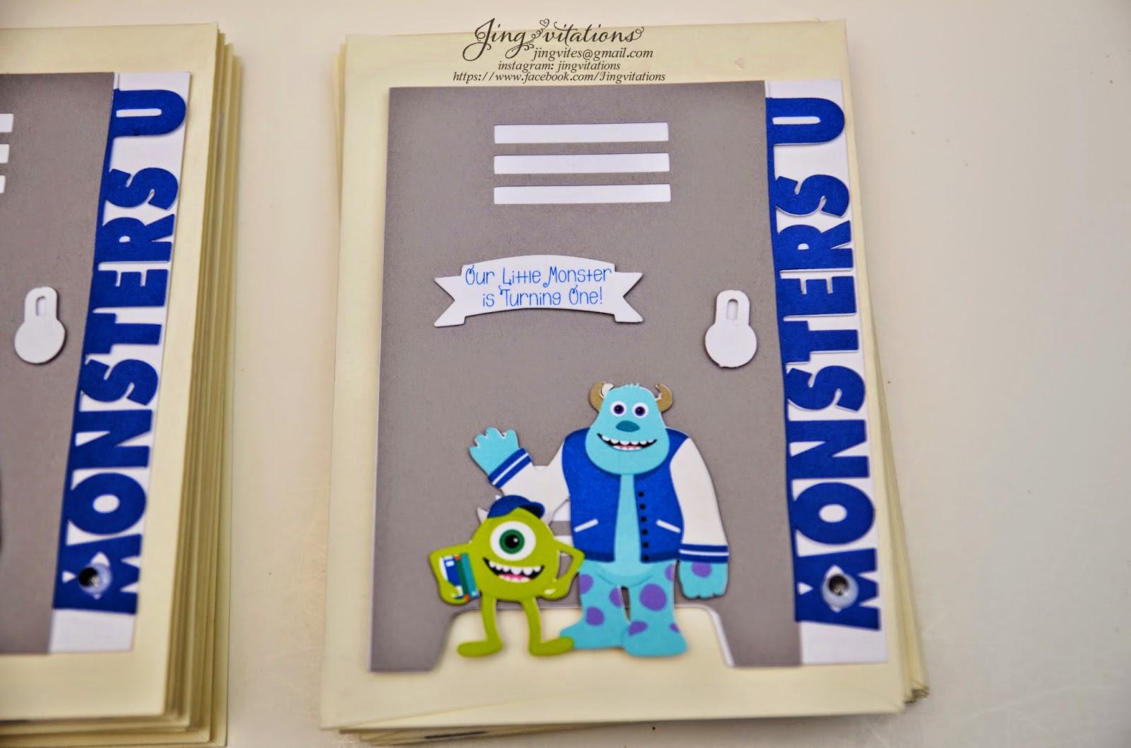 monsters university invitations