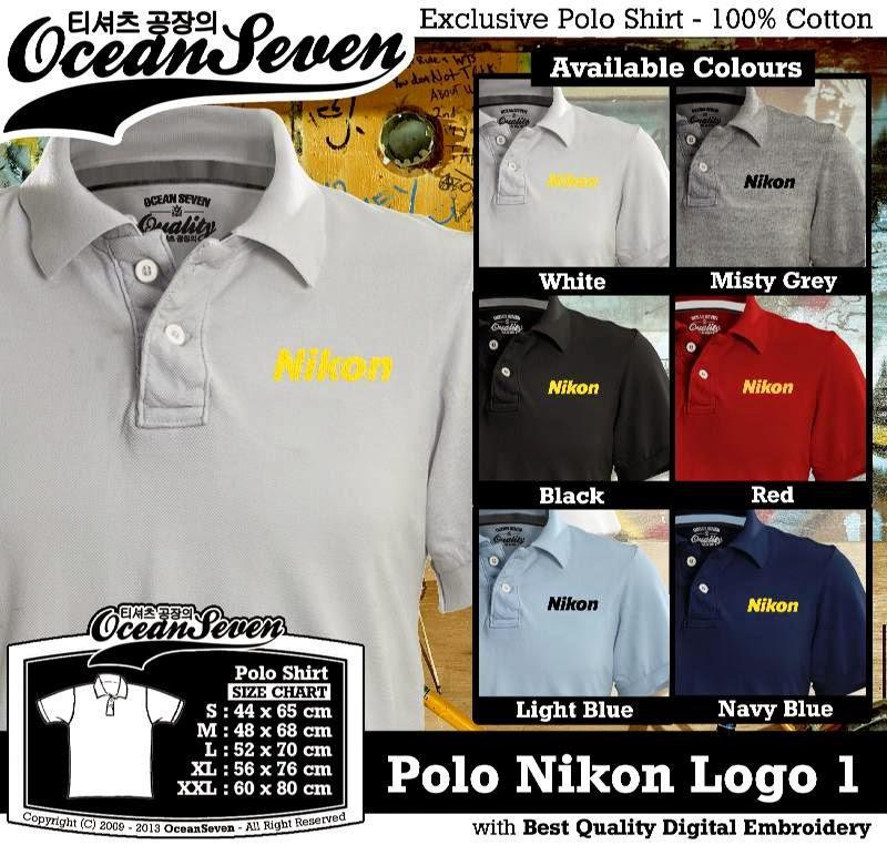 Kaos Polo Nikon Logo 1