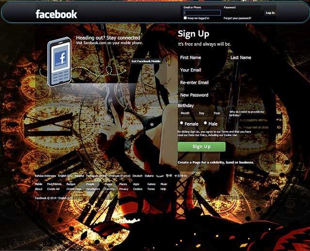 Cara mengganti tampilan 'tema' di setiap halaman facebook