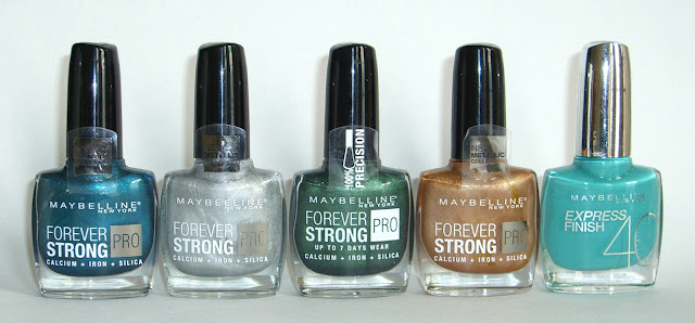 Maybelline - Metal Me Teal!, Oh, So Close!, Green Miracle, Put A Medal On It!, Turquoise Lagoon