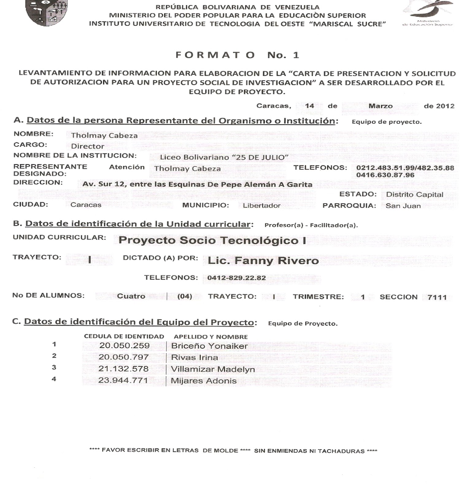 Liceo Bolivariano \