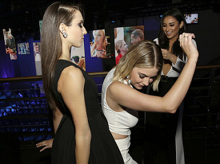 Troian Bellisario, Ashley Benson and Shay Mitchell at ABC Upfronts