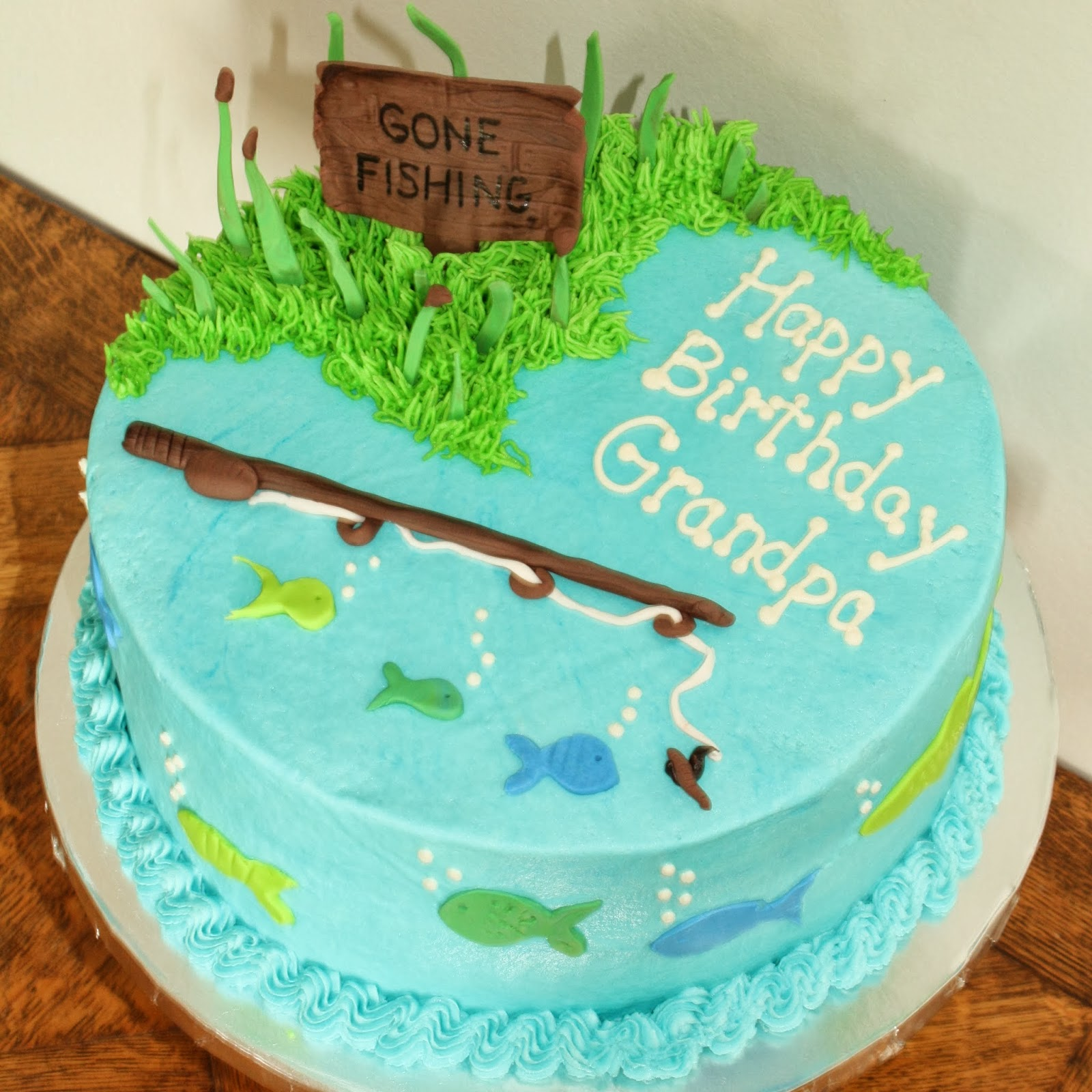 Kake gone fishing cake for Gone fishing cake