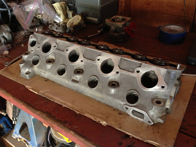Porsche 944 Cylinder Head Cleaned