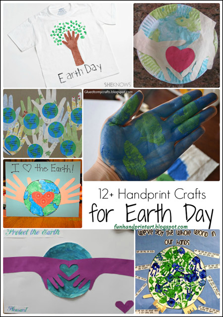 Earth Day Handprint Crafts Round Up