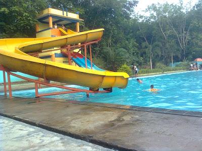 Wisata water boom kecamatan megang sakti