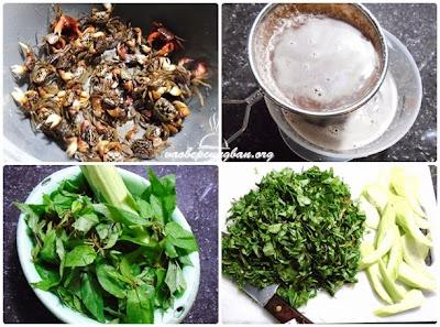 Cách nấu canh cáy rau đay, mướp 1
