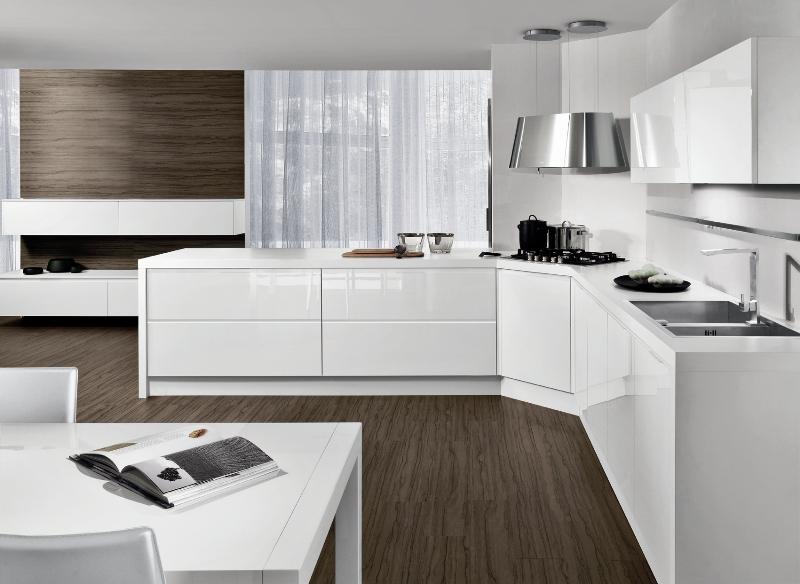 Elegant cucine rosse lucide cucine moderne bianche lucide cucina bianca lucida con with cucine rosse - Piastrelle rosse lucide ...