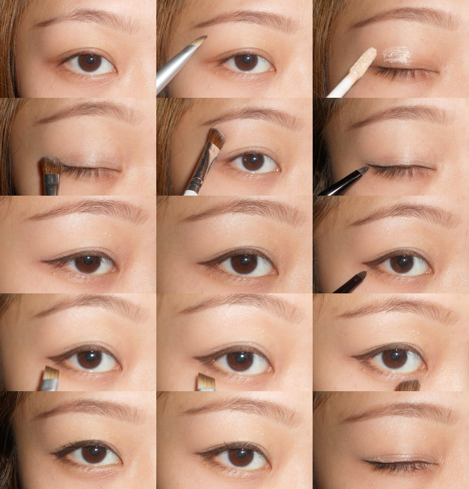 Back to school everyday makeup tutorial with vs without eye makeup baditri Gallery