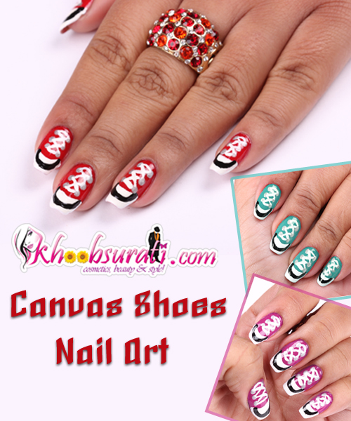 Canvas Shoe Nail Art Nail Art Designs