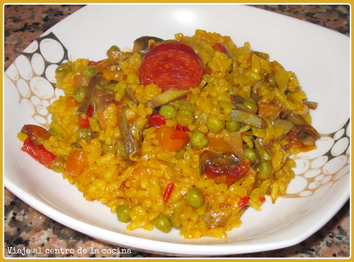 Viaje al centro de la cocina arroz con verduras y chorizo - Arroz con pescado y verduras ...