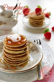 Pancakes con sciroppo d&#39;agave