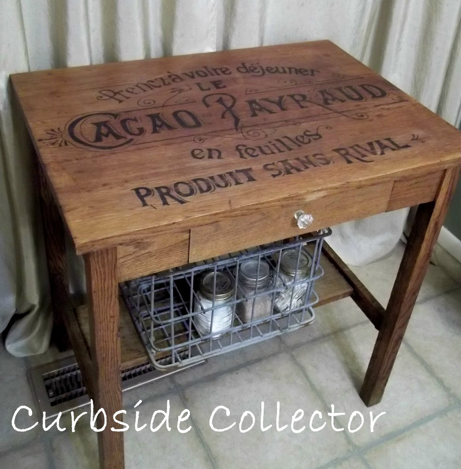 Paste Wax For Table Saw Curbside Collector: Vintage French Chocolate Crate Table
