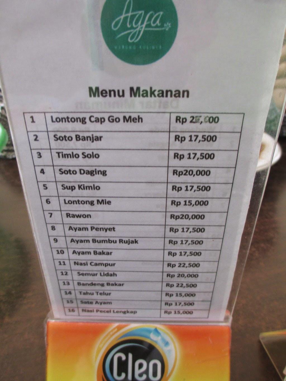 Agfa Warung Kuliner Pazkul Sidoarjo Rumah Maya Tatit