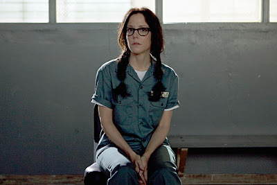 Mary-Louise Parker as Nancy Botwin getting ready foer some Caged Heat