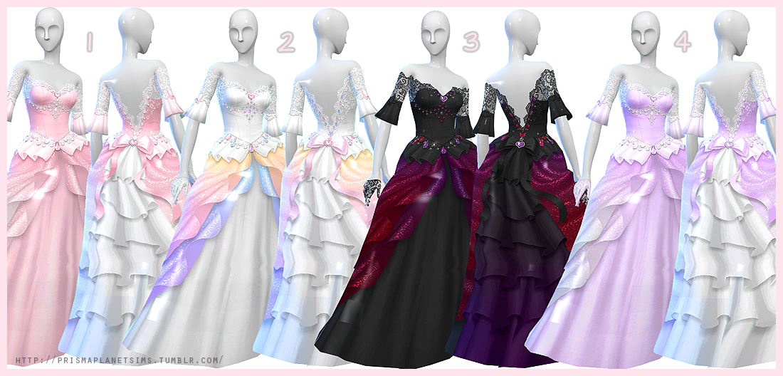 My sims 4 blog prisma s wedding dress gloves