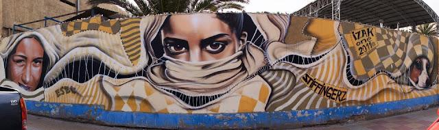 graffiti de izak y esec en antofagasta, chile