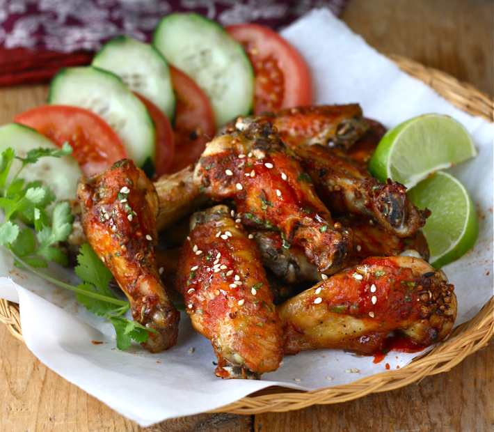 Spicy Sesame-Sriracha Chicken Wings | Season with Spice