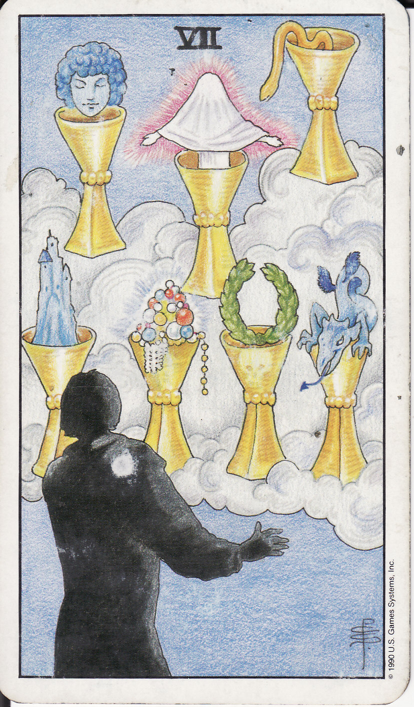 TAROT - The Royal Road: 7 SEVEN OF CUPS VII