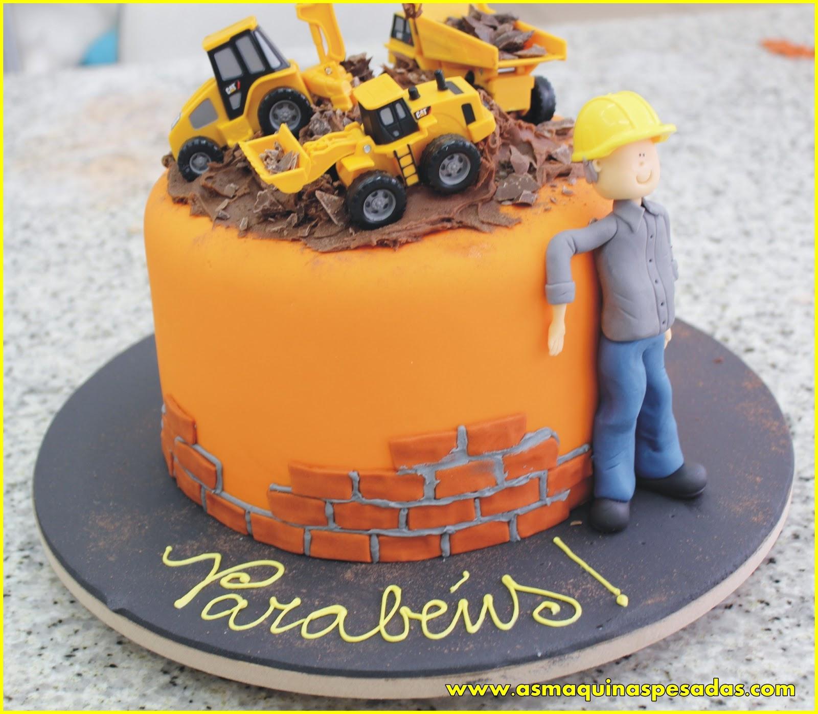 Cake Design Passo A Passo : Bolos de maquinas pesadas! As Maquinas Pesadas