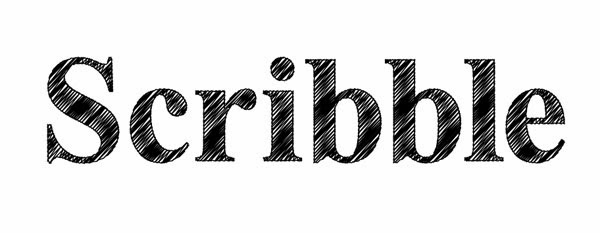Scribble Effect Applied To Text In Illustrator - How To