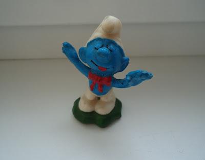 Band Leader Smurf Figure Light Blue Peyo Schleich Schtroumpf Very Rare