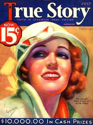 chicas de los años veinte en portadas de revistas antiguas