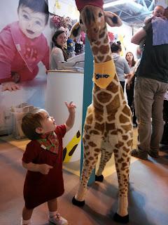 funky giraffe bib