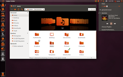 Perfect Ubuntu 11.04 Theme, Nautilus Elementary Ambiance Theme + Clarity Icons