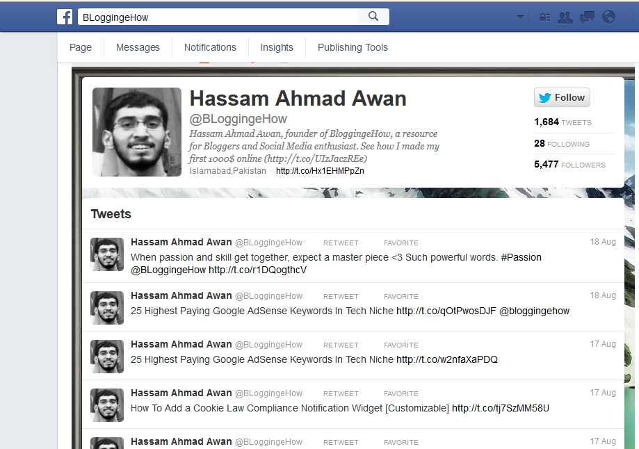 twitter tab for facebook