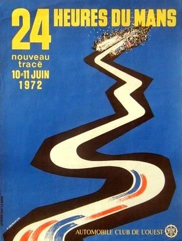 Affiche officielle des 24 Heures du Mans 1972