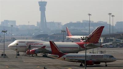 Fotografia de aviões da Air india