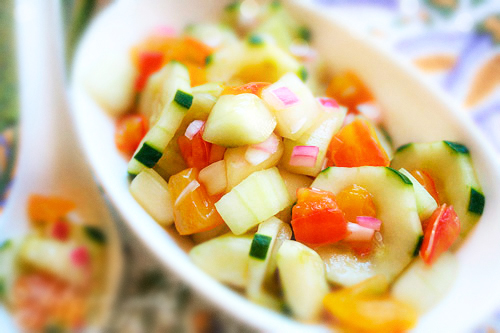 Cool As A Cucumber Salad with Agave - Gluten-Free Goddess Recipes