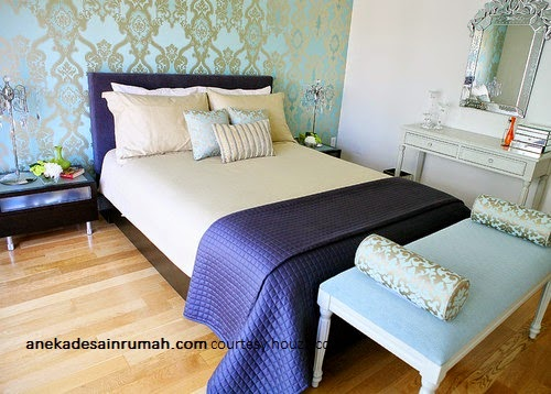 Desain Interior Hunian Desain Wallpaper Kamar Tidur Minimalis
