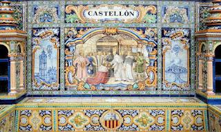 Plaza de España, Sevilla - Azulejo de Castellón 02