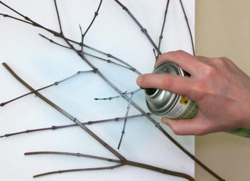Recicla inventa c mo hacer cuadros con ramas tutorial - Cuadros para hacer en casa ...