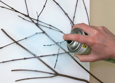 Cómo hacer un cuadro con ramas en Recicla Inventa