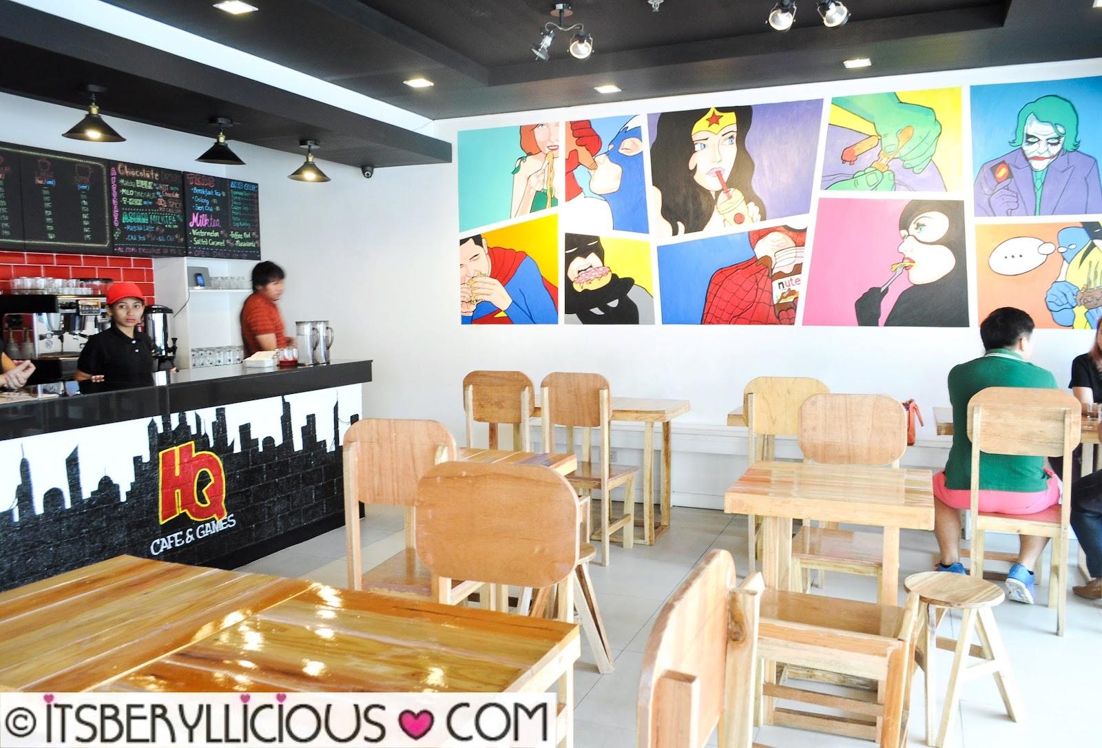 Headquarters cafe games katipunan fun games and coffee for Food bar game