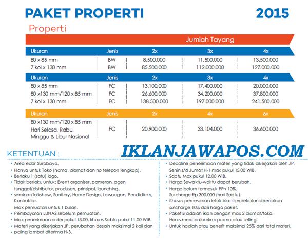Pasang Iklan Jawa Pos Display Paket Properti 2015