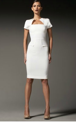 Myrtha Folded Sheath Dress