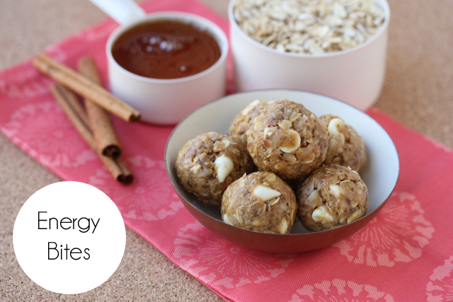 energy bites made with oatmeal