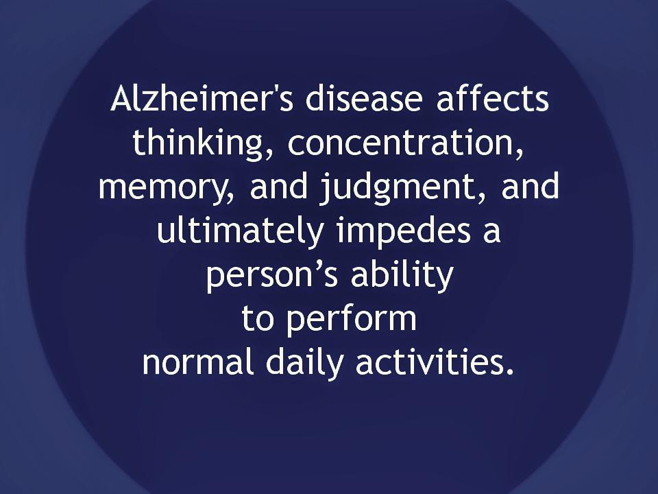 Alzheimer's Disese Defuinition