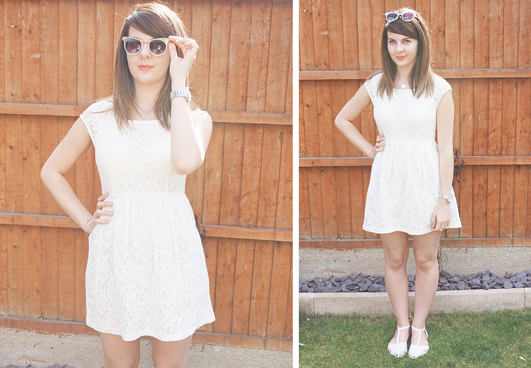 P&P: OUTFIT WHITE LACE