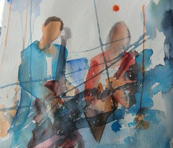 Ny akvarell/akrylbilde