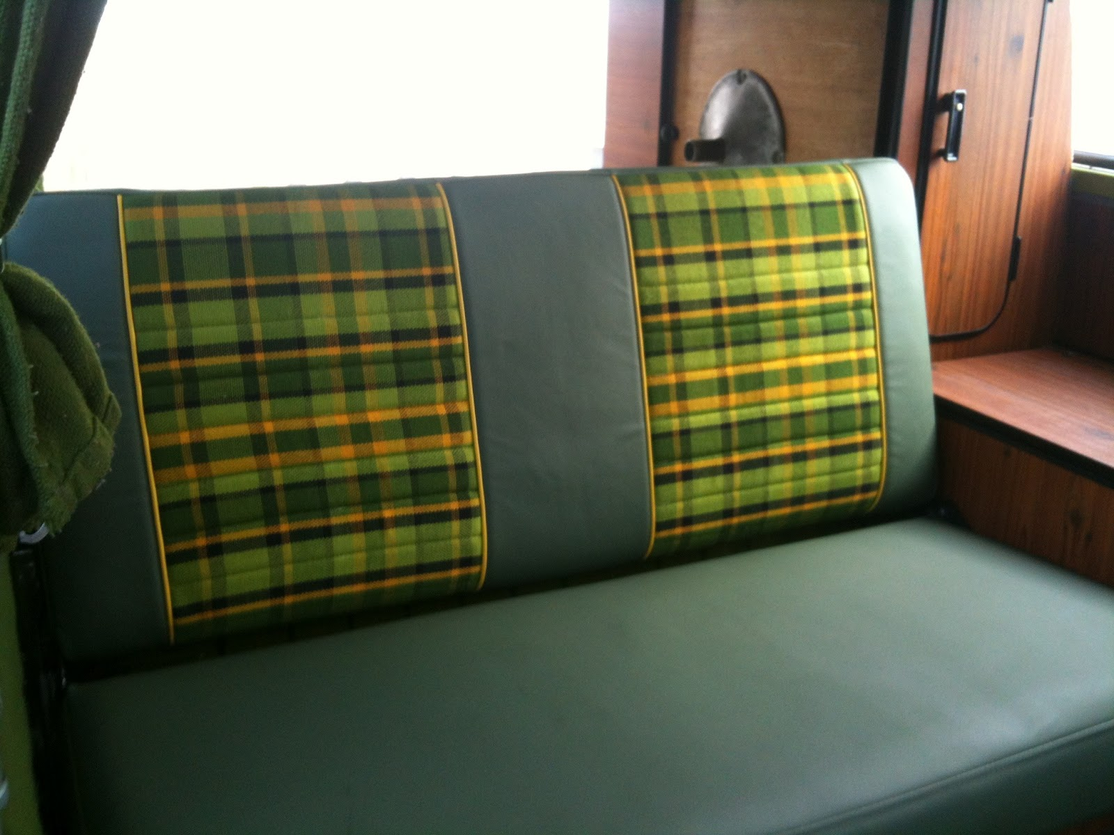 Vintage Surfari Wagons Repurposed Upholstery For 1979 Vw Bus