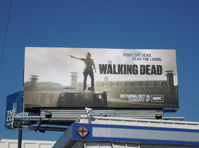 Walking Dead season 3 TV billboard